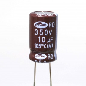 Condensatore Elettrolitico 10uF 100 Volt 105°C Samwha 5x11