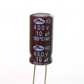 Condensatore Elettrolitico 10uF 400V 105°C Samwha 10x22