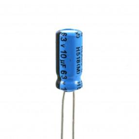 Condensatore Elettrolitico 10uF 63 Volt 85°C Lelon 5x11 Nastrato