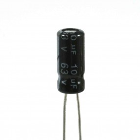 JWCO KM100M1JSAJ0511VBK Condensatore Elettrolitico 10uF 63 Volt 105°C 5x11 mm Nastrato