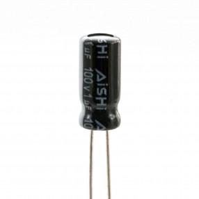 Condensatore Elettrolitico 1uF 100 Volt 105°C Aishi 5x11