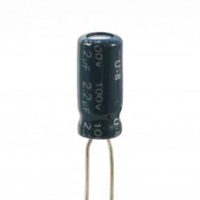 Condensatore Elettrolitico 2,2uF 100 Volt 105°C Jianghai 5x11 Nastrato