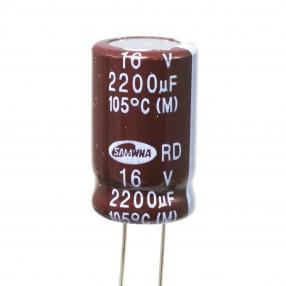 Condensatore Elettrolitico 2200uF 16V 105°C Samwha 13x20