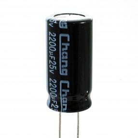 Condensatore Elettrolitico 2200uF 25V 85°C Chang 10x20 Nastrato