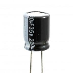 Condensatore Elettrolitico 220uF 35 Volt 105°C Lelon RGA221M1V0811-SA8 8x11,5 Nastrato