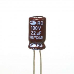 Condensatore Elettrolitico 22uF 100V 105°C Samwha 6,3x11,5