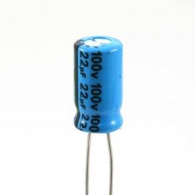 Condensatore Elettrolitico 22uF 100 Volt 85°C Jianghai 6,3x11,5 mm