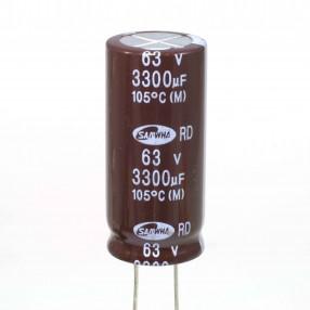 Condensatore Elettrolitico 3300uF 63V 105°C Samwha 18x40