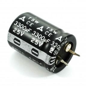 Condensatore Elettrolitico Panasonic TSW 3300uF 25V 85°C Snapin 22x30