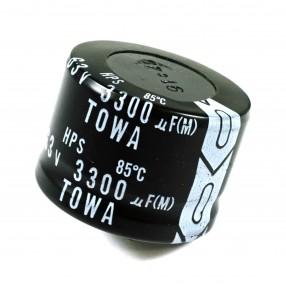 Condensatore Elettrolitico 3300uF 63V 85°C TOWA 36x26