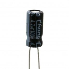 Condensatore Elettrolitico 4,7uF 100 Volt 85°Chang 5x11 Nastrato