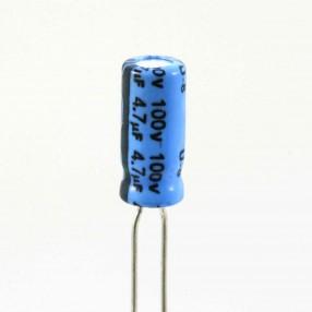 Condensatore Elettrolitico 4,7uF 100 Volt 85°C Jianghai 5x11 Nastrato