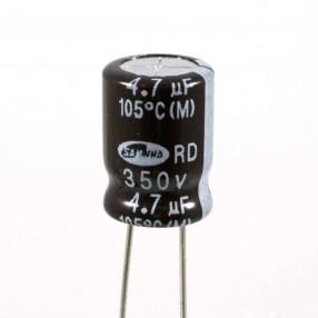 Condensatore Elettrolitico 4,7uF 350 Volt 105°C Samwha 10x14 mm