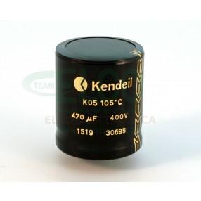 Condensatore elettrolitico Kendeil 470µF 400VDC 105°C