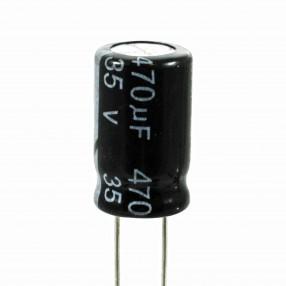 Condensatore Elettrolitico 470uF 35 Volt 105°C JWCO 10x16 mm Nastrato