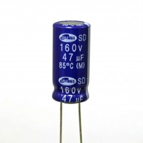 Condensatore Elettrolitico 47uF 160 Volt 85°C Samwha 10x21