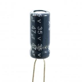 Condensatore Elettrolitico 47uF 35 Volt 105°C Jianghai 5x11 Nastrato