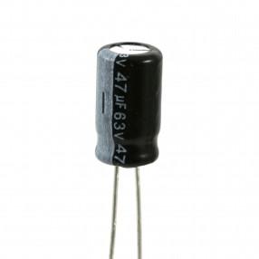 Condensatore Elettrolitico 47uF 63 Volt 105°C Lelon 6,3x11 mm Nastrato