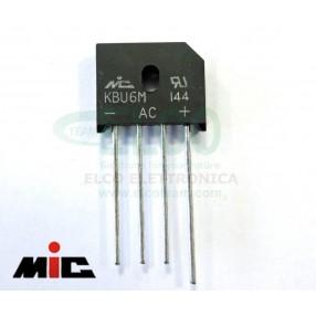 MIC KBU6M Ponte a Diodi Monofase