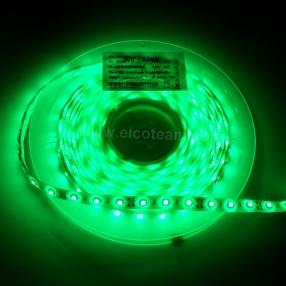 Striscia LED 5 Metri Colore Verde 12 VDC IP65 4,8W/m