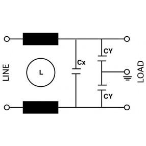 Actronic AR02.6.5A Filtro EMI da PCB - Circuito