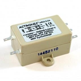 Actronic AR05.6.5A Filtro EMI con terminali a faston da 6,5 Ampere