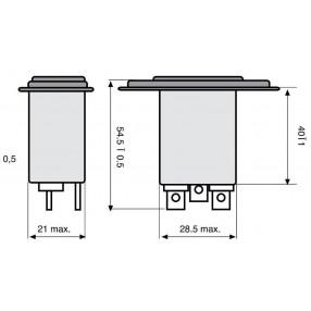 Actronic AR07.6A Filtro EMI con Spina IEC da 6 Ampere - Dimensioni