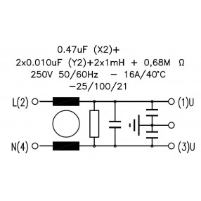 DEM FLC630501F Filtro Antidisturbo Induttivo Capacitivo - Circuito