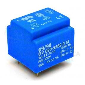 Trasformatore Incapsulato 230V - 6V - 0,5VA ERA BV020-5832.0 M
