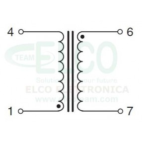 Trasformatore Incapsulato 230V - 6V - 0,5VA ERA BV020-5832.0 M - Schema