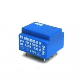 Trasformatore Incapsulato Era EE20 0,35VA - 230V - 2x15V