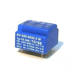 Trasformatore Incapsulato Era EE20 0,35VA - 230V - 2x9V