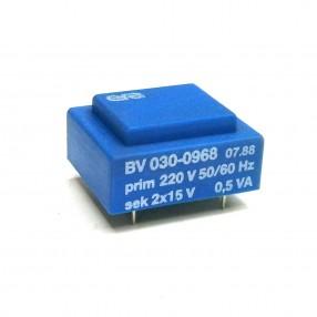 Trasformatore Incapsulato Era BV030-0968 0,5VA 220V - 2x15V