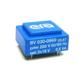 Trasformatore Incapsulato Era BV030-0969 0,5VA 220V - 2x18V