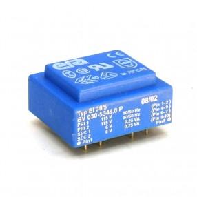 Trasformatore Incapsulato Era EI30/5 0,5VA - 2x115V - 2x6V