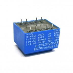 Trasformatore Incapsulato Era EI30/10,5 1VA 2x115V - 2x6V