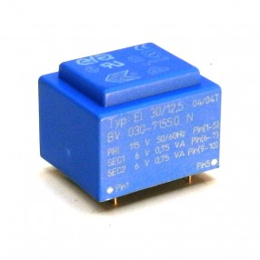 Trasformatore Incapsulato Era EI30/12,5 1,5VA - 115V - 2x6V