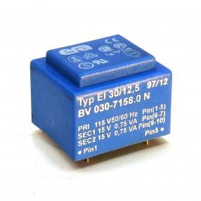 Trasformatore Incapsulato Era EI30/12,5 1,5VA - 115V - 2x15V