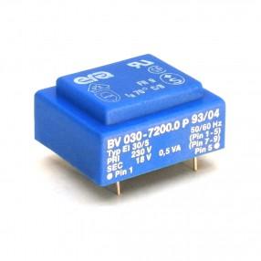 Trasformatore Incapsulato Era EI30/5 0,5VA - 230V - 18V