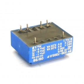 Trasformatore Incapsulato Era EI30/5 0,5VA - 230V - 2x9V