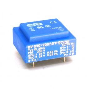 Trasformatore Incapsulato Era EI30/5 0,5VA - 230V - 2x24V