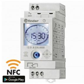 Finder 12.61.8.230.0000 Interruttore Orario Settimanale Digitale programmabile NFC