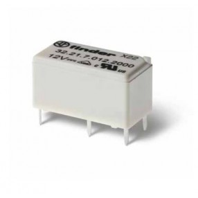 Finder 32.21.7.005.4000 Mini Relè Bobina 5VDC passo 2,54 mm