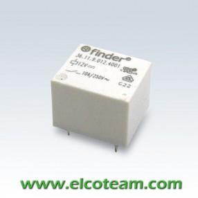 Finder 36119012 Mini Relè cubetto - Bobina 12 VDC