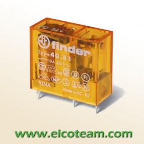 Finder 40.51.8.024.0000 Relè Elettromeccanico bobina 24 VAC