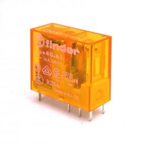 Finder 40.61.8.230.0000 Relè Elettromeccanico Bobina 230 VAC