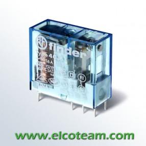 Finder 40617012 Relè Elettromeccanico Bobina Sensibile 12 VDC