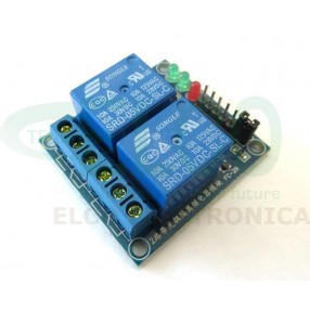 Modulo Relè Optoisolato 2 canali per Arduino