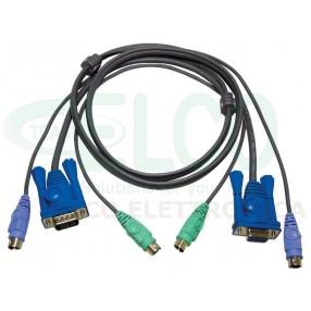 ATEN 2L-5002P/C Cavo 1,8m per KVM PS/2