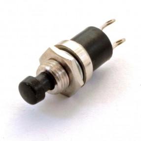04/06502 Mini Pulsante Nero Normalmente Aperto